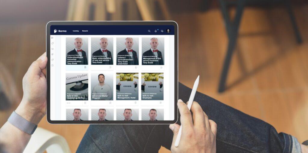 Barma Academy on iPad